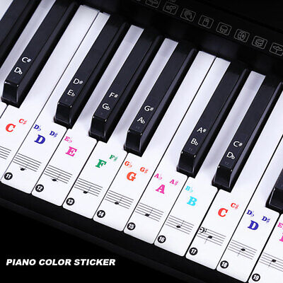Music Keyboard Or Piano Stickers Full Set 88 Key Set Removable Laminated Sticker
