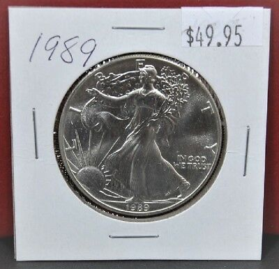 1989 Silver American Eagle BU 1 oz. Coin US $1 Dollar Uncirculated Brilliant *89