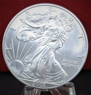 2003 American Silver Eagle BU 1 oz US $1 Dollar Uncirculated Brilliant Mint *23