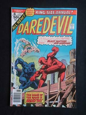 Daredevil Annual #4 MARVEL 1976 - NEAR MINT 9.6 NM - Black Panther app!