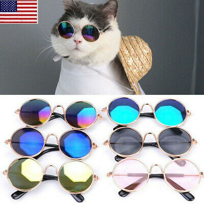 Small Pet Dog Sunglasses Glasses Cat Toy Kitten Outfit Funny  Costume Clothes OC