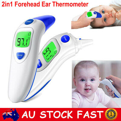 Digital LCD Medical Baby Ear Forehead Thermometer Infrared Temperature Tester CE