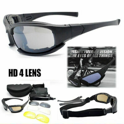 Military Goggles Daisy X7 Tactical 4Lens Sunglasses Polarized Lenses Glasses Kit