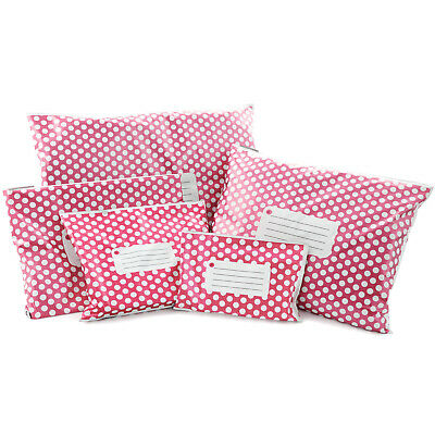 Pink Polka Dots  CHEAPEST STRONG MAILING POSTAGE BAGS TOP QUALITY