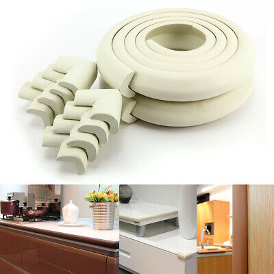 White Baby Safety Table desk Edge Corner Cushion Guard Strip Softener Protector