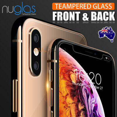 Apple iPhone XS Max XR NUGLAS FRONT AND BACK 9H Tempered Glass Screen Protector