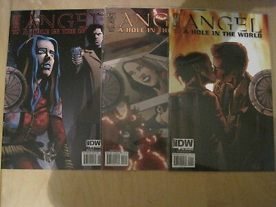 """ANGEL (BUFFY) : """"A HOLE IN THE WORLD"""" : issues 1,2,5 of the 5 ISSUE SERIES. 2009"""