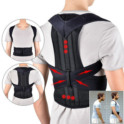 Mens Women Posture Corrector Brace Body Wellness Belt Adjustable Back Support
