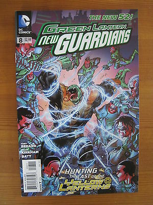 GREEN  LANTERN : NEW GUARDIANS  8  by TONY BEDARD. DC THE NEW 52. 2012