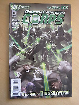GREEN  LANTERN CORPS 3  by TOMASI & PASARIN. DC THE NEW 52. 2012