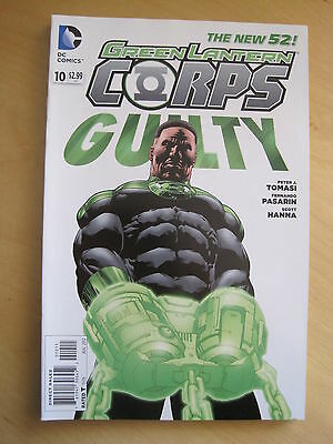 GREEN  LANTERN CORPS  10  by TOMASI & PASARIN. DC THE NEW 52. 2012