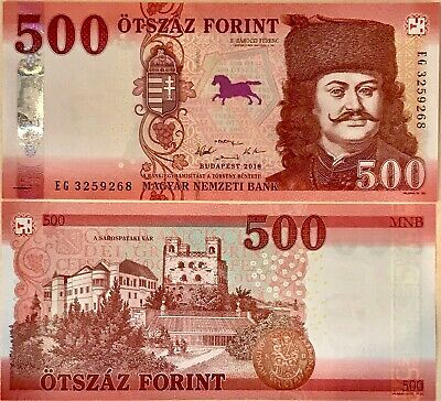 Hungary 500 Forint 2018 / 2019 P New Color Security Unc Nr