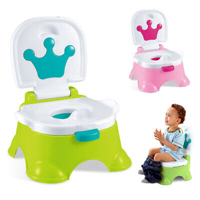 3 in 1 Lovely Baby Toddler Toilet Trainer Safety Pink Music Potty Training Seat