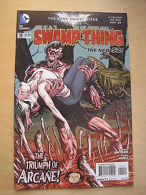Swamp  Thing  #  11 . By  Scott Snyder.   The New 52. Great Cover ! Dc. 2012