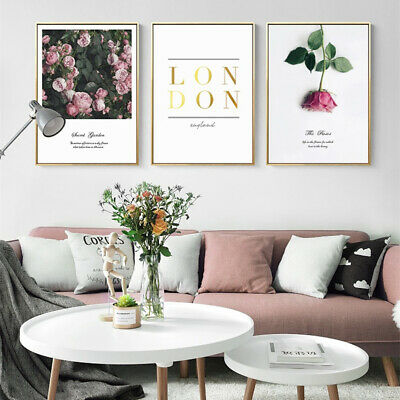 Nordic Fresh Rose Flower Canvas Wall Painting Poster Picture Home Decor Faddish