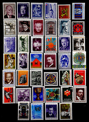 Austria: 1970's Stamp Collection Mint Never Hinged 40 Different