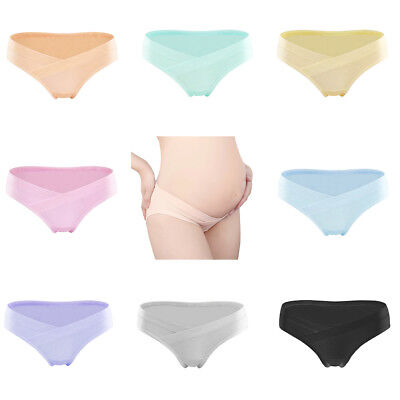 AC_ Pregnant Women Maternity Cotton U Shape Low Rise Underwear Panties Briefs No
