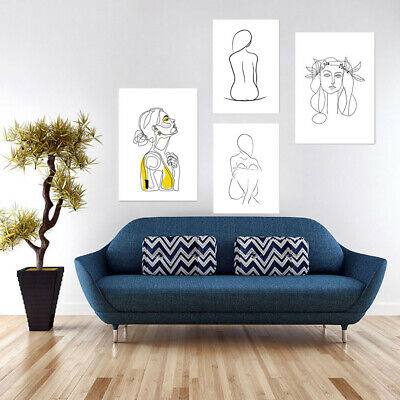 Abstract Women Canvas Wall Painting Picture Poster Home Decor Unframed Faddish