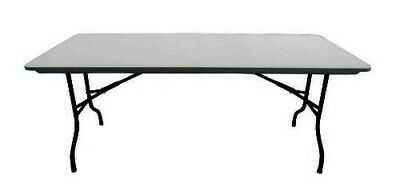 GREY LONG 8ft FOLDING RECTANGULAR TABLE OFFICE CANTEEN SCHOOL COLLEGE FURNITURE
