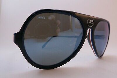 Vintage 70s sports sunglasses layered acetate mirror lens made in France