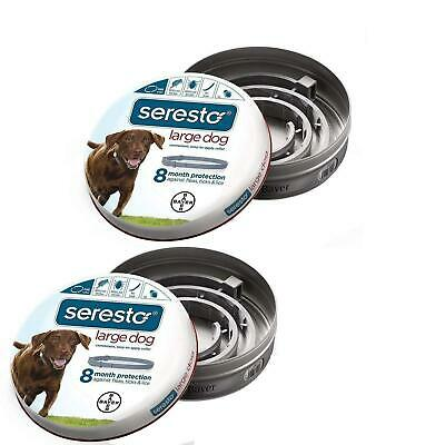 Bayer Seresto Flea and Tick Collar for Large Dog,Safe Effective Odorless-2 Pack