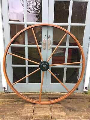 Original 1930/40s Refurbished Large Wrought Iron Cart Wheel ,51 inches,Ex Cond