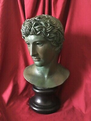 Greek Bronze Bust - Head of a Young Man - Greek Athlete - Made in Europe