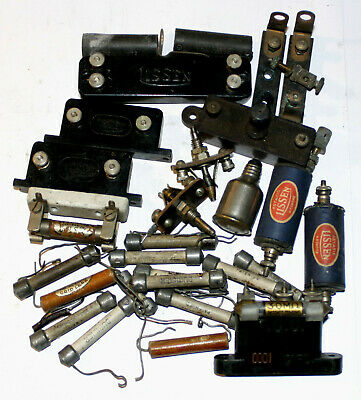 JOB LOT OF SMALL 1920s/1930s VINTAGE WIRELESS COMPONENTS