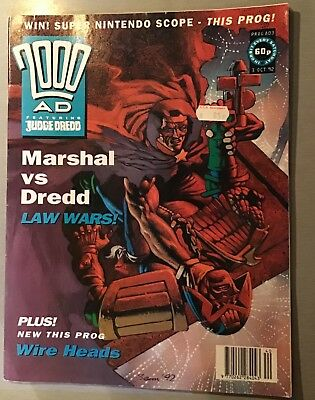 2000AD weekly Sci-fi comic / Judge Dredd. 803, October 1992.