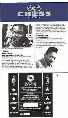 The Chess Northern Soul Volume 2 Mp3 Download Coupon & Booklet 14 Rare Tracks