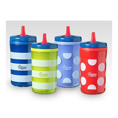 Tommee Tippee Big Chill Kids On The Go Insulated Free Flow Cups - 380ml