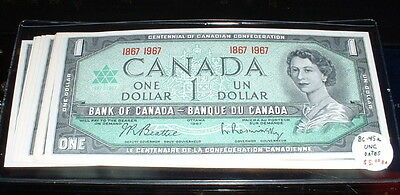 BANK OF CANADA 1867-1967 $1 NOTES BC-45a  ***UNC***