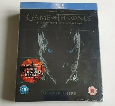 Game of Thrones : Season / Series 7 + Conquest & Rebellion (Blu-ray) New