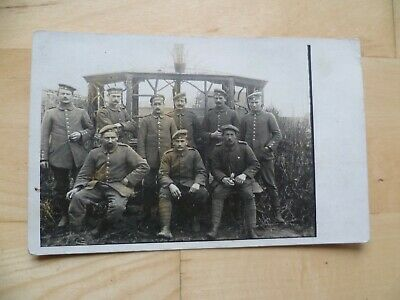 Real photo p/c Group of unknown WW1 German Soldiers