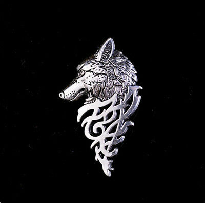 Charm Vintage Silver Fashion Jewelry Wolf Pin Brooch for Women Men