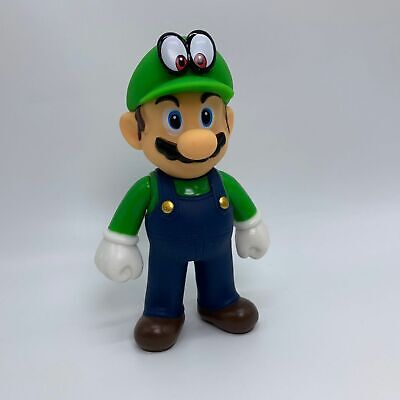 Super Mario Odyssey Luigi Plastic Action Figure Toy Doll 5""