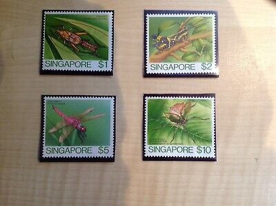 Singapore Stamps Insects Unmounted Mint SG 499-502
