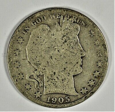 1905-S  Collectible Silver Barber Half-Dollar (b536.92)