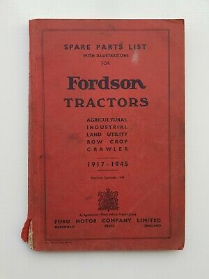 Fordson Tractor Parts List 1917-1945