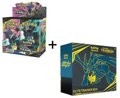 Pokemon Tcg Sun & Moon Team Up Booster Sealed Box + Elite Trainer Box