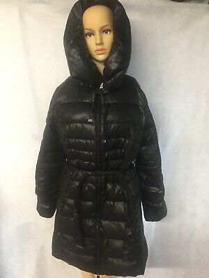 6677ca62be2 Via Spiga Womens Hooded Down Quilted Puffer Coat Size Large L Nordstroms  Black