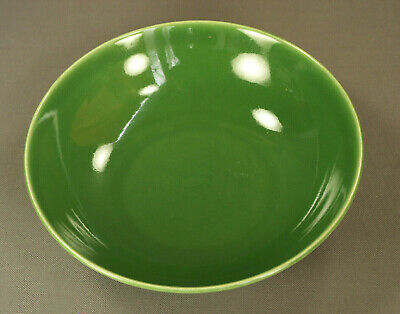 "BALLERINA-Universal Potteries ""Union Made"" 9"" Dark Green Serving Bowl VTG FINE!"