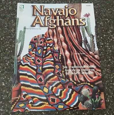 Navajo Afghans Crochet Patterns House Of White Birches Katherine Eng