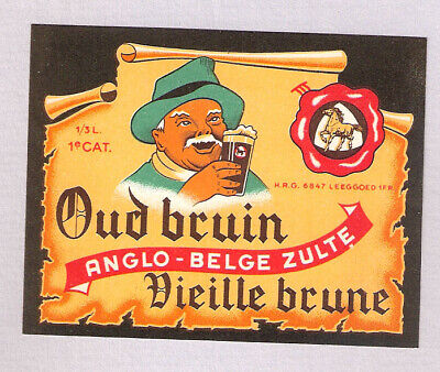 >étiquette BRASSERIE ANGLO-BELGE - ZULTE 2