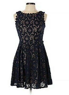 9c5b15656 Jodi Kristopher Dress A-line Sleeveless Lace Black Prom Party NEW size 7  Juniors