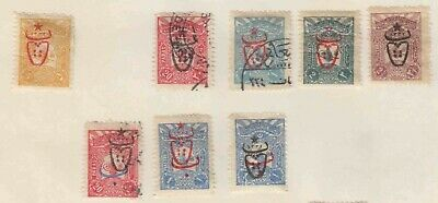Turkey Collection Lot Mounted Scarce Overprints #2 All Appear To Be Sound