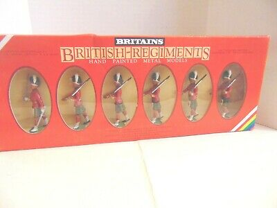 Britains  MIB. # 7245.  6 Gordon Highlanders.  Never removed from the box.