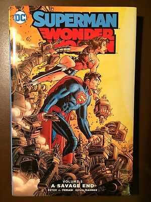DC comics: SUPERMAN / WONDER WOMAN Vol 5 : A SAVAGE END, Hardcover Graphic Novel