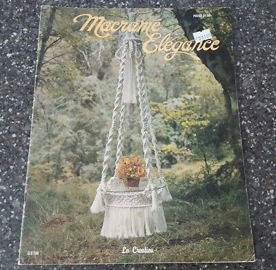 Macrame Elegance by Simmons & Clement Vintage 1976 GS1M