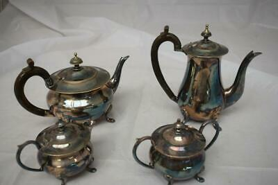 Vintage 4 Piece Silver Plate Tea/Coffee Set
